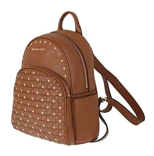 MICHAEL KORS Abbey Medium Studded Backpack Pebbled Leather (Brown)