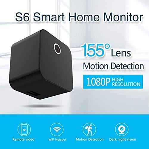 Balscw-J Mini Cargador de cámara 1080p USB WiFi Infrarrojos visión Nocturna Enchufe Adaptador Plug Audio Monitor para...