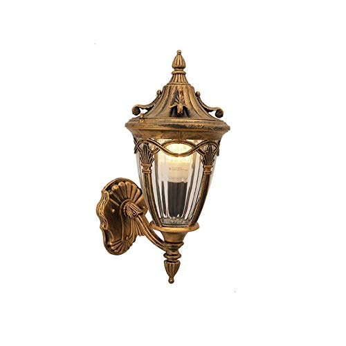 Sprsk Do The Old European Industrial Retro Style Wall Lamp of Simple Carved Wall Lamp of Flower Basket Wall Sconce Waterproof Outdoor Personality Wall Corridor Aisle Garden Villa Courtyard Wall Light