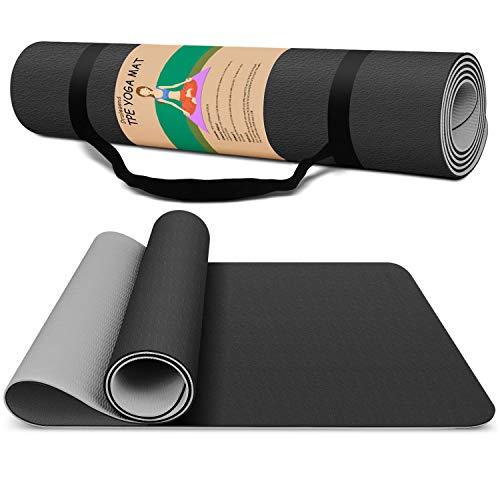 Dralegend Yoga Mat Exercise Fitness Mat – High Density Non-Slip Workout Mat for Yoga, Pilates & Exercises, Anti – Tear…