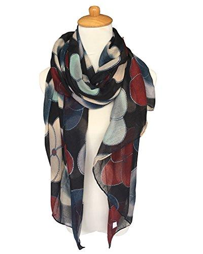 GERINLY Scarf Wrap - Ladies Fashion Oblong Scarves Evening Primrose (Beachwear Wrap)