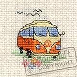 Mouseloft Mini Cross Stitch Kit - Camper Van, Stitchlets Collection