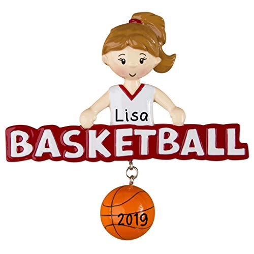 Hobby Home Accessories Basketball Girl Personalized Christmas Ornament 2019 | Basketball Players Gift | Custom Writing Names Ornament