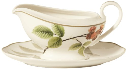 Noritake China Gravy Boat - Noritake Berries and Brambles 12-1/4-Ounce Gravy with Stand