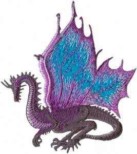 Embroidered Iron On Patch CD3513 (Embroidered Dragon Patches)