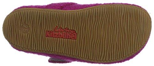 Living Kitzbühel Mädchen Ballerina Love Hausschuhe Pink (Purple Wine)