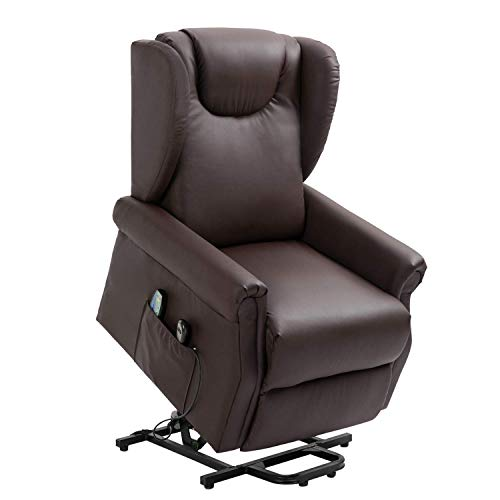 Recliner Padded Chair Fabric Single Sofa Reclining Seat Ergonomic Lounge Furniture for Living Room (Brown)