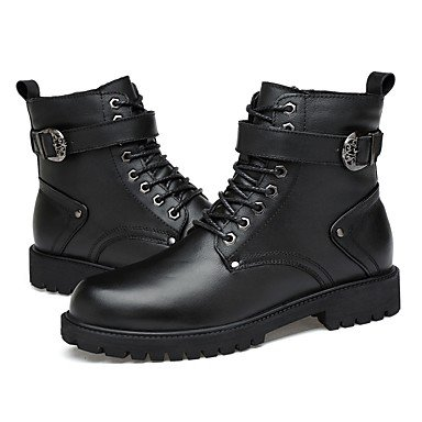 RTRY Women's Shoes Real Leather Cowhide Nappa Leather Fall Winter Comfort Fashion Boots Bootie Combat Boots Boots Round Toe Booties/Ankle Boots US8 / EU39 / UK6 / CN39 0R594lUF19
