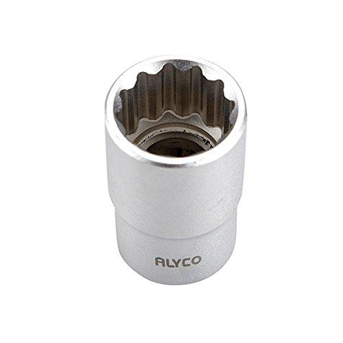 ALYCO 190417 - Llave de vaso de 1/2' DIN-3124 bihexagonal 12 caras de 17 mm