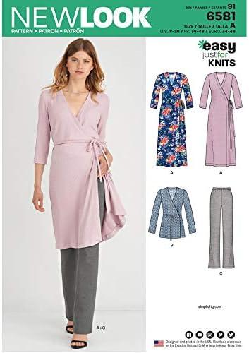 gilets New Look 6581 Patron de couture pour pantalons robes