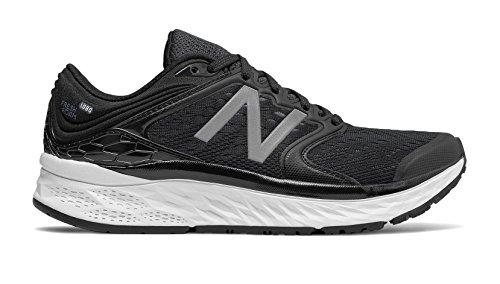 New Balance Women's 1080v8 Fresh Foam Running Shoe, Black/White, 9.5 D US by New Balance