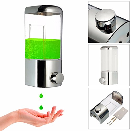 New Wall Mounted Bathroom Lotion Shampoo Liquid Soap Dispenser apec shower head eco 533 ecospa Hose ecocamel green rv ecorain rain dechlorinator aquasana - Smedbo Glass Wall Soap Dispenser