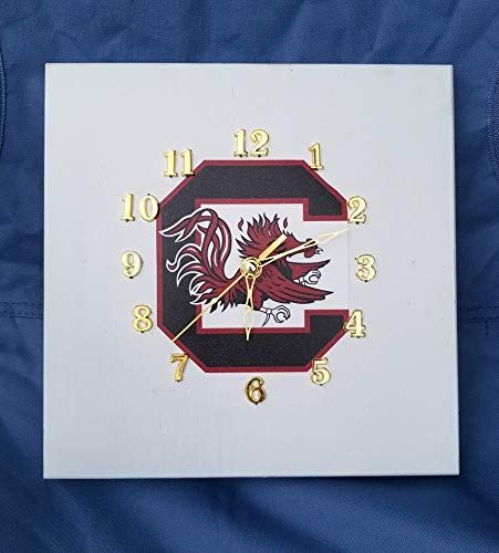 SC Metal Art Customized Handmade Gamecocks Clock ()