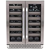 Cheap Whynter BWR-401DS Elite 40-Bottle Seamless Stainless Steel Door Dual Zone Built-in Wine Refrigerator