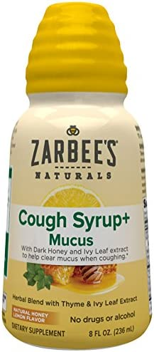 Zarbee's Adult Cough Syrup for Daytime Cough Syrup, any size.