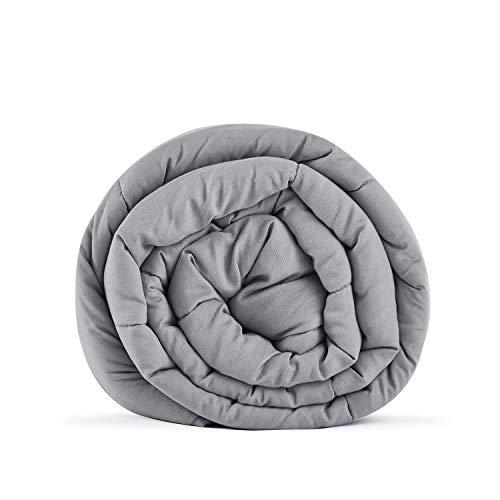 RelaxBlanket Premium Cotton Adult Weighted Heavy Blanket   60x80,15lb   Enjoy Natural Deep Sleep   Light Grey