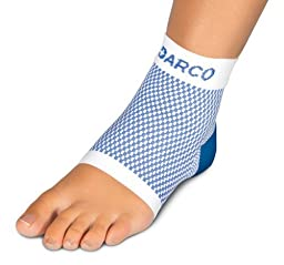 Darco FS6 DSC Plantar Fasciitis Sleeve Zoned Compression Sock, Size L (Men 10-13, Women 11+).