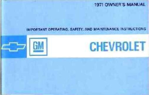 1971 Chevrolet All-Models owners manual PDF
