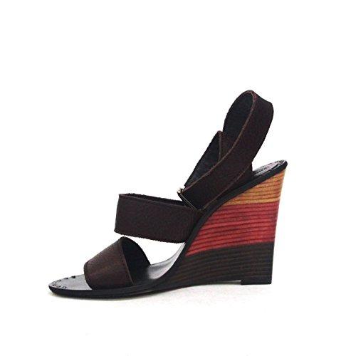 Juicy Couture para dedo del pie abierto cojín con forma de cuña en el talón y pedrería para mujer, funda de piel, UK 4 tamaño de la funda de, de £140 rojo - granate