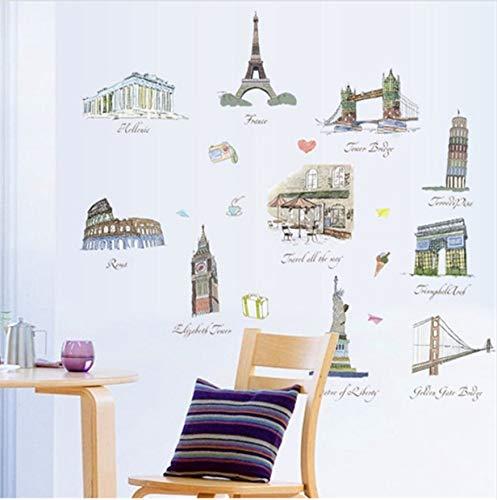 HLLCY Imagen arquitectónica de fama Mundial Pegatinas de ...