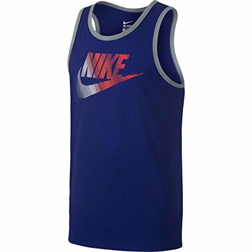 crimson grey Top Nike Tank Logo Men's Ace Royal White RTvxqYpP10