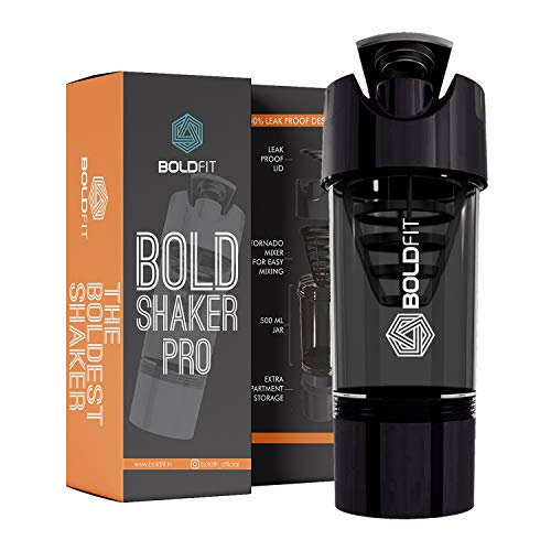 Boldfit Gym Shaker Pro Cyclone Shaker 500ml with Extra...