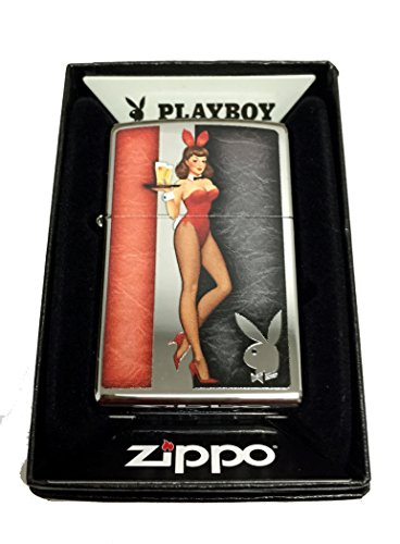 Zippo Custom Lighter - Red Costumed Playboy Cocktail