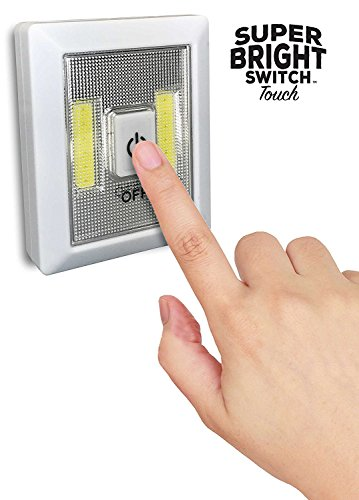 Super Bright Switch Touch: 2-Pack Wireless Peel and Stick LED Lights - Tap Light, Touch, Night, Utility, Battery Operated, Under Cabinet, Shed, Kitchen, Garage, Basement