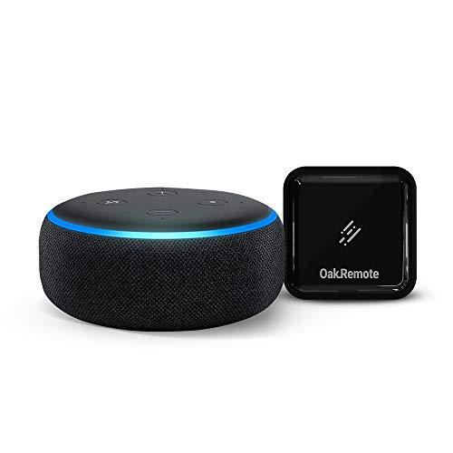 Echo Dot (Black) bundle with OakRemote for A/C & TV control