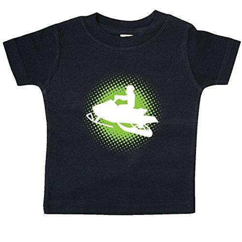 - inktastic - Snowmobile Sports Snowmobiling Baby T-Shirt 6 Months Black 2e4d8