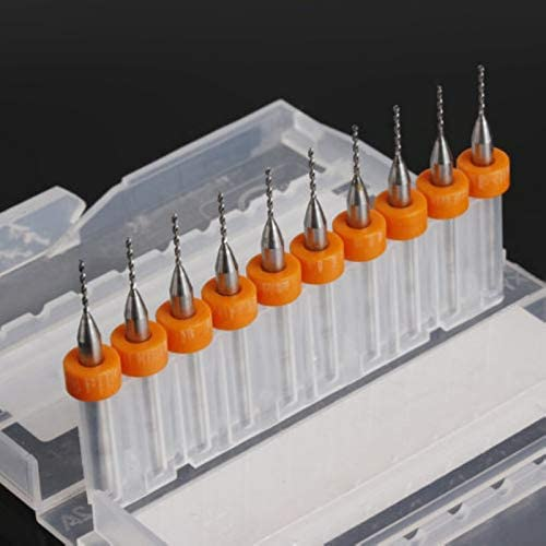 MEIZXIU 10pcs PCB Print Circuit 0.8mm Micro Drill Bits Board PCB Drill Bit for Carbide CNC Engraving Tools