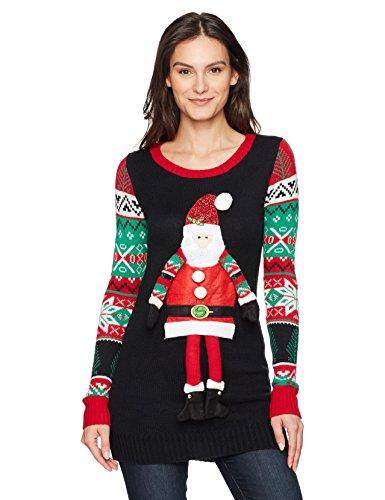 Christmas Tunic W/Dangling Santa
