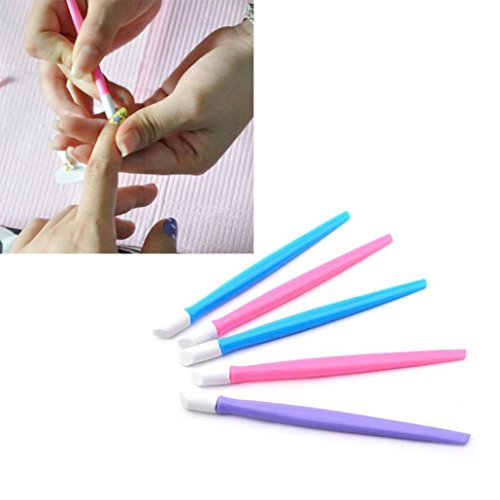 DEESEENew1Pc Nail Art Orange Wood Stick Cuticle Pusher Remov