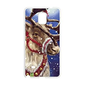 Christmas Reindeer Cute Custom Design samsung galaxy Note 4 Hard Case Cover phone Cases Covers