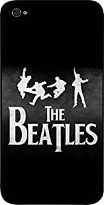 Zheng caseThe Beatles-Silhouettes on Green- Hard Black Plastic Snap - On Case-Apple Iphone 5 - 5s - Great Quality!