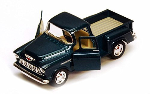 1955 Chevy Stepside Pickup Truck, Green - Kinsmart 5330/6D - 1/32 scale Diecast Model Toy Car