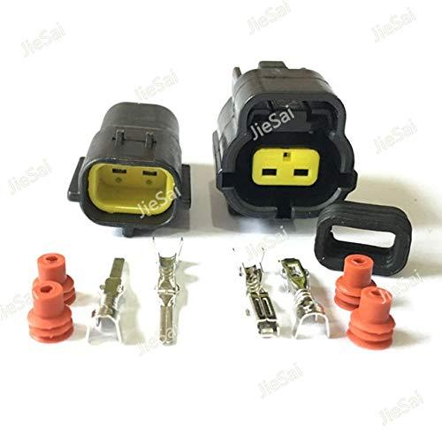 Ochoos 2 Pin 174352-2 174354-2 Automotive Connector for Mazda RX7 FD Intake Air Temp (IAT) Sensor Connector Engine Room Position Plug - (Color: 10 Pcs): DIY & Tools