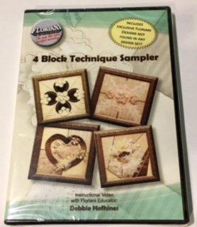 (Floriani Embroidery 4 Block Technique Sampler DVD)