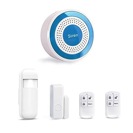 Juego de Sirenas de Alarma para Interiores con Sensor de Puerta, Detector de Movimiento,