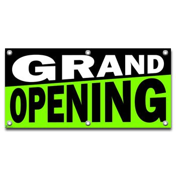Grand Opening - Retail Store Business Sign Banner (Opening Banner Outdoor)