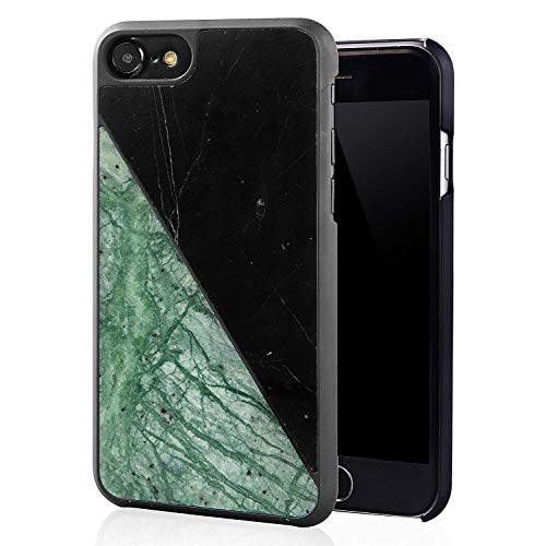 Kitoo Real Marble iPhone 7 Case/iPhone 8 Case, 100% Natural Hard Marble Case Reinforced with Fiberglass and Hard PC Base for iPhone 7/iPhone 8 - -