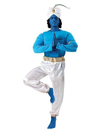 Men's Genie Arabian Nights Sultan Ali Baba Aladdin Sinbad Fancy Dress Halloween Costume (Mens Arabian Nights Costumes)
