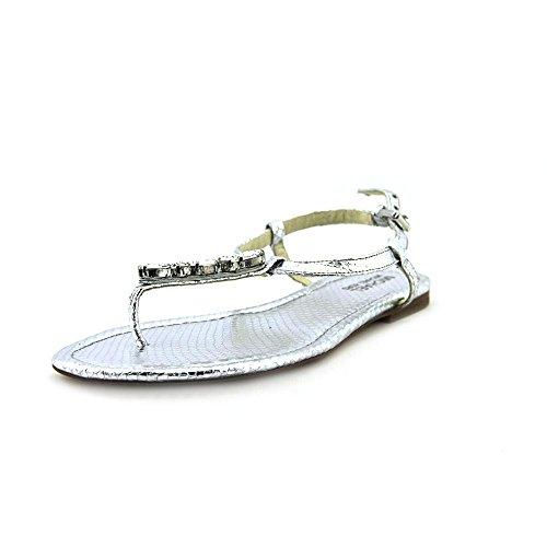 (Michael Kors Womens Jocelyn Leather Open Toe Beach, Silver, Size 9.0 Woie)