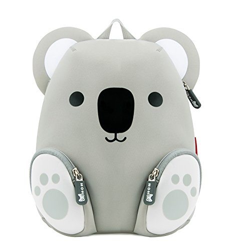Tom Clovers Lightweight 3D Grey Koala Bear Cartoon School Bag Kids Backpack Pre School Children Toddler