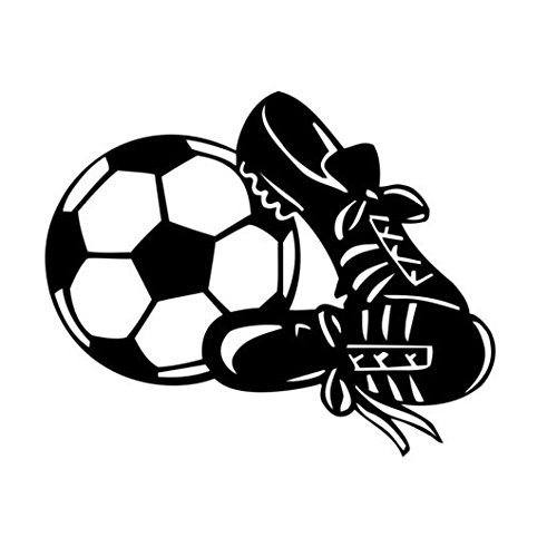 Soccer Ball Vinyl Decal Window Sticker Graphic Auto Wall Art Laptop Car Truck, Die cut vinyl decal for windows, cars, trucks, tool boxes, laptops, MacBook - virtually any hard, smooth surface