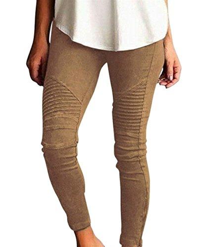 Plus Trousers Elasticità Pantaloni Donna Per Pantalone Eleganti Grazioso Moda Donna Accogliente Pantaloni Matita Vintage Prodotto Libero Tempo Fashion A Kaki Skinny Pantaloni Monocromo gwEnpU