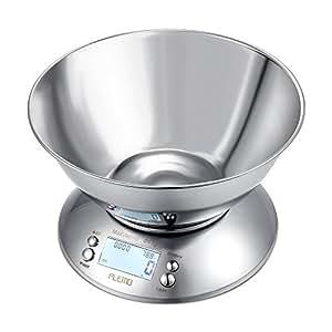 Plemo balanza de cocina b scula digital para cocina con for Bascula cocina amazon