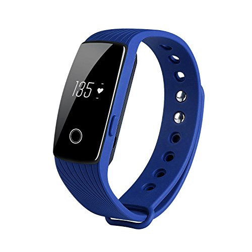 KOBWA Heart Rate Monitor & Fitness Tracker,ID107 Activity Watch Bluetooth 4.0 Waterproof Wireless Smart Bracelet…