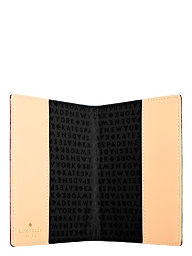 Kate Spade Grand Street Leather Passport Holder Case (Black)