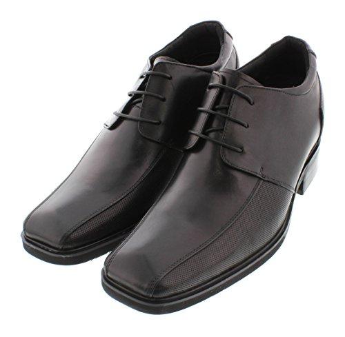 calto–g623219,1cm größer die Höhe Steigerung Aufzug Schuhe (schwarz Schnürschuh square-toe)